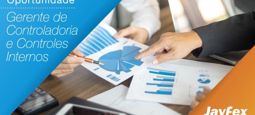 Nova oportunidade aberta na Jayfex Trading: Gerente de Controladoria e Controles Internos.